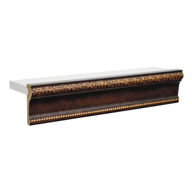 Багетный карниз для штор Визит 300 см, трехрядный, коричневое золото -  купить в интернет-магазине в Москве